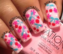 cherry-flowers-pink-summer-nails