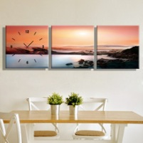 Coastal-Setting-Sun-Clock-in-Canvas-3pcs.jpg_220x220